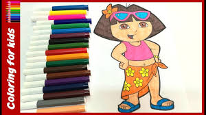 dora the explorer coloring pages dora the explorer coloring pages youtube