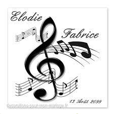 faire part mariage musique faire part thème notes de musique sur decorations pour mon mariage fr