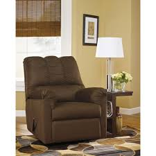 southern enterprises leather recliner and ottoman set in cafe