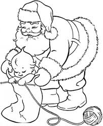 toddler and santa coloring page christmas coloring pages of