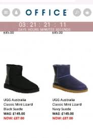 ugg boots in sale at office ugg australia mini lizard black suede ankle boots 87