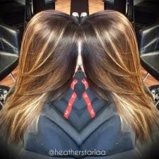 Caramel Hair Color With Honey Blonde Highlights Golden Brown Base With Honey Blonde Balayage Highlights Hair By