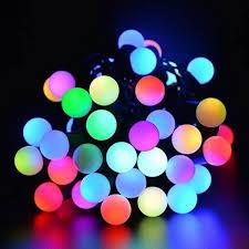 color changing solar string lights fullbell christmas 16ft 50 led rgb ball string lights color