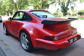 porsche 964 red rare porsche 964 turbo 1 madwhips