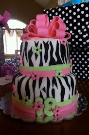 zebra striped 18th birthday cake katrina things pinterest