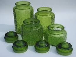 green canister sets kitchen green glass button kitchen counter canister jars set