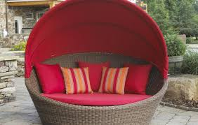 Outdoor Wicker Daybed Stunning Wicker Daybed With Canopy Quest Circular Outdoor Rattan