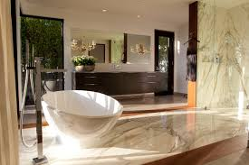 warm contemporary master bath contemporary bathroom los