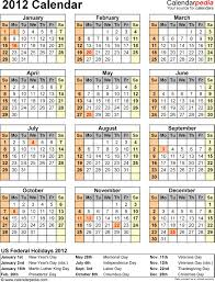 2012 calendar with federal holidays excel pdf word templates