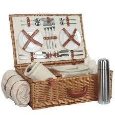 picnic basket set for 4 christmas gift ideas for merry christmas