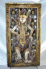 antique india indian hindu god goddess kali shiva carved wood