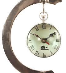 desk clock desk clock with magnified lens crome estudiointernational