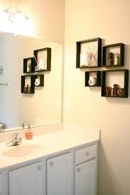 bathroom wall ideas decor bathroom decoration using mounted wall black cube frame shelf
