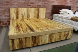 King Size Platform Bed With Storage Bed Frames Rustic Bed Frame With Storage Reclaimed Wood Beds For
