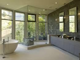 White Contemporary Bathrooms Bathroom Delightful Modern Bathrooms Ideas With Dark Wall