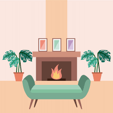 interieur et canapé salon intérieur d un canapé plantes d intérieur et cadre de cheminée