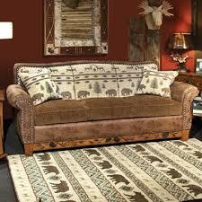 marshfield woodland rustic sofa with queen sleeper conlin u0027s