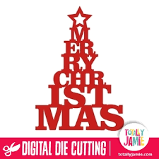 merry tree title totallyjamie svg cut files graphic