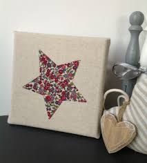 decoration etoile chambre cadre étoile tissu écru décoration chambre enfant décoration