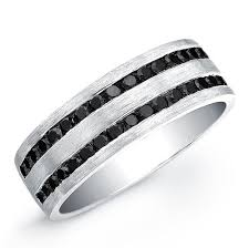 black custom rings images Custom made sterling silver black diamond mens ring 1 1 10 ctw by jpg