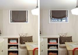 basement window blinds living room intended for amazing residence