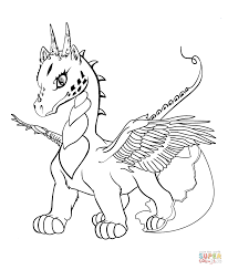 baby dragon coloring page free printable coloring pages