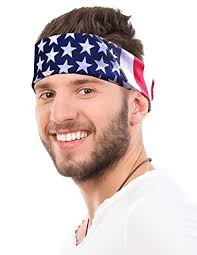 hairband men american flag bandana headband us bandana for men usa flag bandana