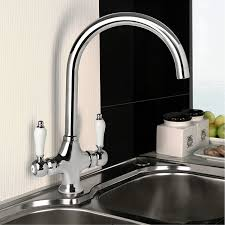 Luxury Chrome Swivel Spout Kitchen Tap Traditional Sink Monobloc - Kitchens sinks and taps