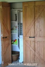 Closet Doors Barn Style Diy Bi Fold Barn Doors Diy Furniture Build By Bailey