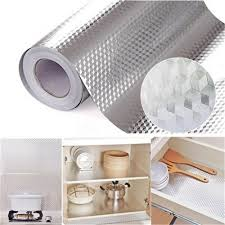 best kitchen shelf liner self adhesive drawer shelf liner aluminum foil paper proof roll kitchen use