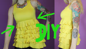 diy yellow ruffled top alison dilaurentis inspired pretty little