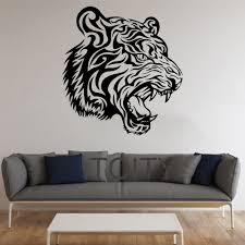 tiger stickers animal vinyl decal home interior dorm teen design