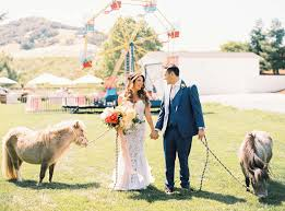 summer lovin u0027 wedding complete with a ferris wheel green