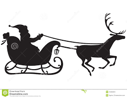santa claus on a reindeer sleigh stock images image 34283584