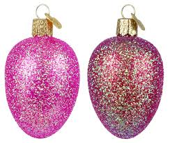 glitter easter egg ornaments world christmas easter ornaments traditions