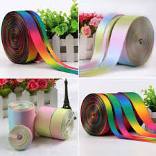 grosgrain ribbons rainbow sided pastel satin grosgrain ribbon 9 13 25 38mm