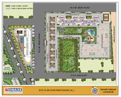 Msg Floor Plan by Omaxe Grand Flats In Lucknow