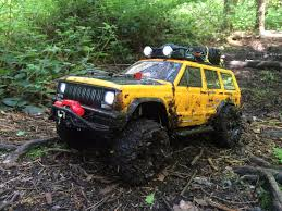 muddy jeep axial scx10 jeep cherokee muddy forest trail youtube