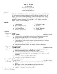 assistant resume template personal assistant cv exle for admin livecareer