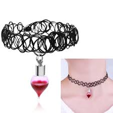 bottle necklace aliexpress images Gothic vintage style black choker vampire blood vial necklace with jpg