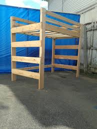 Wood Bunk Bed Plans by Full Size Heavy Duty Loft Bed Extra Tall Extra Long Lofts
