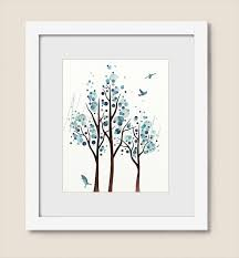 Branch Decorations For Home by 8 X 10 Art Print Aqua Blue Decor For Home Tree Wall Art For