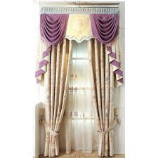 Lime Green Valance Beige Jacquard Floral Artificial Fiber Luxury Valance Curtains