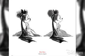 this minnie mouse art is as adorable as minnie herself d23