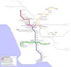 la metro rail map los angeles map los angeles mappery