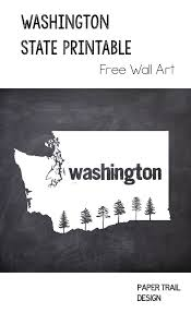 United States Map Printable by Printable Wall Art Washington State Silhouette With Trees