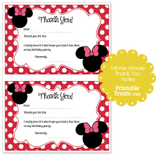 minnie mouse thank you cards printable minnie mouse thank you notes printable treats