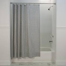Cloth Shower Curtains Bristol Plaid Print Fabric Shower Curtain Window Toppers