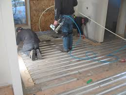 heated floors heat the entire structure a radiant heating system