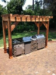 Small Backyard Pergola Ideas Small Outdoor Kitchen Pergola With Modern Style Of Kitchen